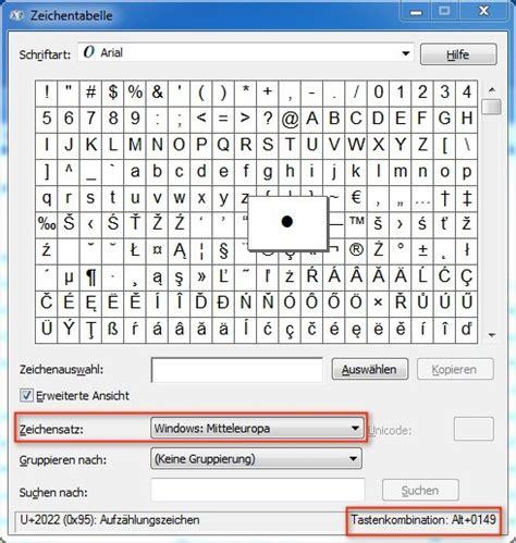 windows tastenkombinationen fuer sonderzeichen shortcuts