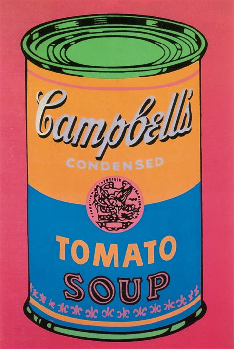 Cbell Tomato Soup Andy Warhol by 4 Assorted Warhol Soup Can Posters