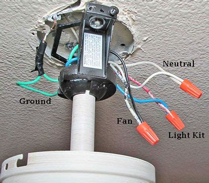 How Install Ceiling Fan Where Fixture Exists