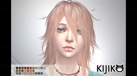 pack de cabello anime  los sims  anime hair pack