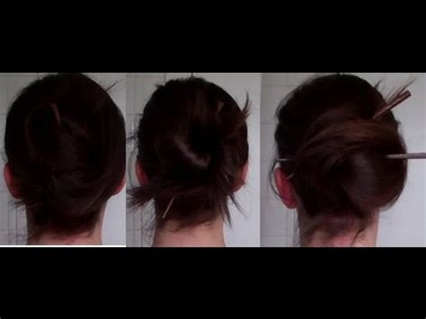 quick easy pretty chopstick updos hairstyle howto tutorial vintagious youtube