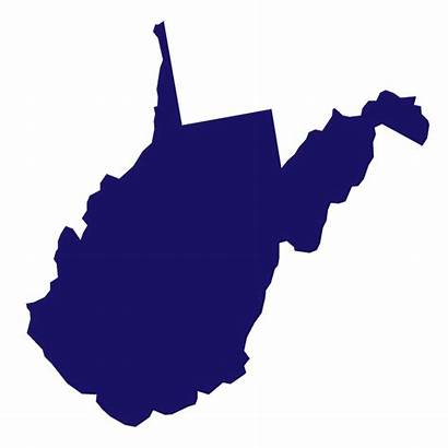 Virginia West Wv State Outline Map Wvu