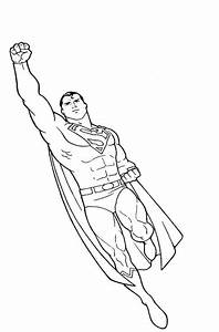 Superman flying coloring pages to print - ColoringStar