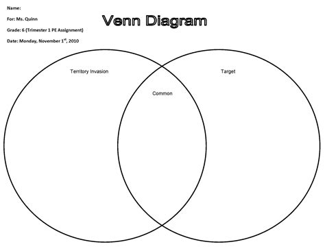 First Grade Venn Diagram Examples