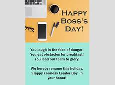 You are a Fearless Leader Happy Boss's Day Card