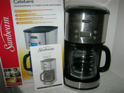 Target / kitchen & dining / sunbeam coffee pots (167). sunbeam 12 cup stainless steel programmable coffee maker ...