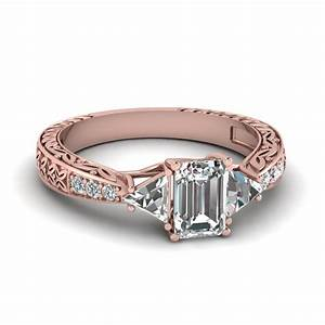 vintage rose gold engagement rings wedding promise With buy gold wedding rings online