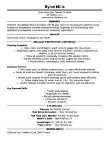 Environmental Services Housekeeping Resume by Resume Housekeeping Resume Sles Housekeeping Skills And Abilities Skills And
