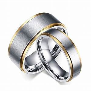 titanium stainless steel couple wedding rings evermarker With stainless wedding rings