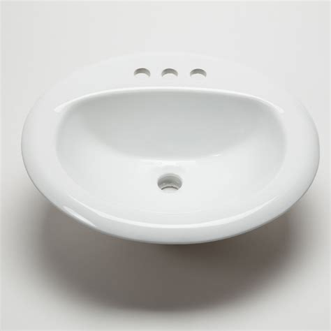 hahn ceramic bathroom large oval bowl drop in white