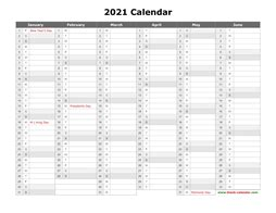 printable calendar    yearly calendar