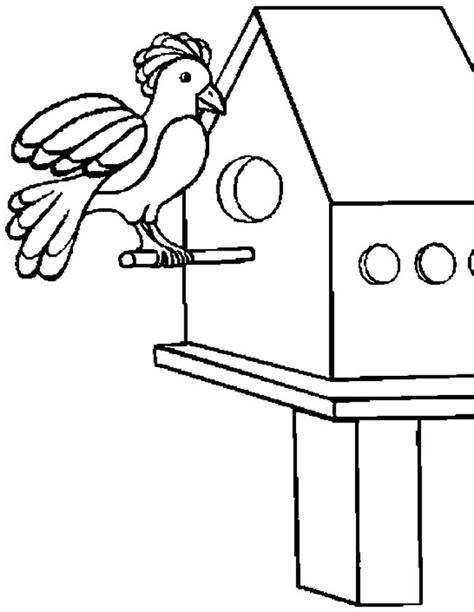 Gratis Kleurplaat Politie Bureau by Kleuren Nu Vogel In Vogelhuisje Kleurplaten
