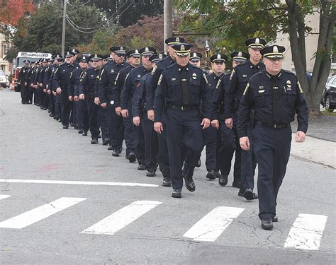 Departments turn out in force for deceased Taunton police ...
