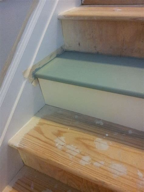 painted stairs    painted stairs basement
