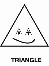 Coloring Triangles Pages Triangle Printable Educational Template Toddlers Recommended Print Bermuda Templates sketch template
