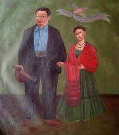 Frida Kahlo and Diego Rivera Painting