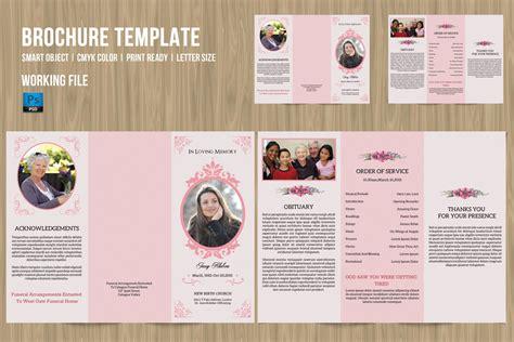 Free Funeral Trifold Brochure By Elegantflyer Tri Fold Funeral Brochure Template Trifold Funeral Program