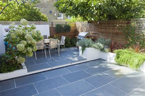 patio and landscape design stunning no grass garden view with granite floor shrubs trees garden inspiration