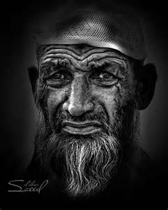 Old People in Black and White Photography of Faces