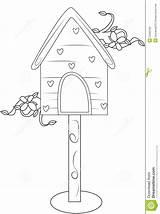 Coloring Bird Pagina Vogels Farbtonseite Haus Vogel Kleurende Coloritura Uccello Huis Dell Della Useful sketch template