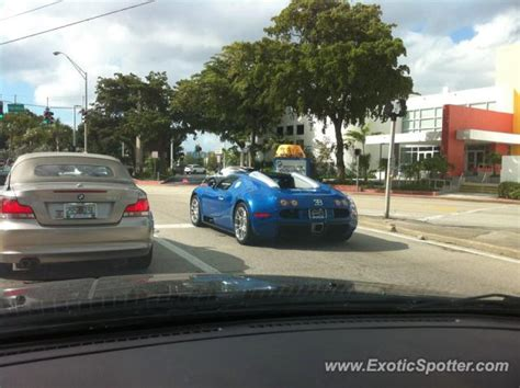 That is the epitome of perfection available at pugachev luxury car rental. Bugatti Veyron spotted in MIami Beach, United States on 01/10/2012