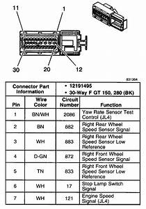 Need Wiring Diagram Of Wheel Speed Sensor To Abs Module In Order To Trouble Shoot Tc U0026abs Functions