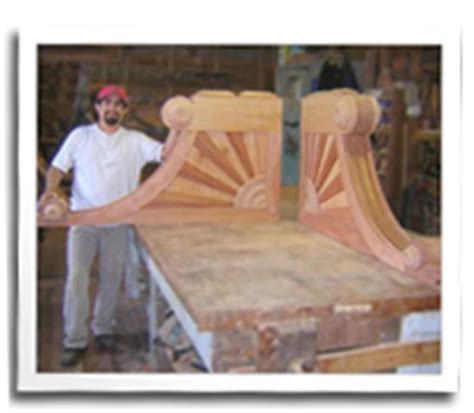 Custom Wood Corbels by Blue Ox Custom Millwork Architectural Details