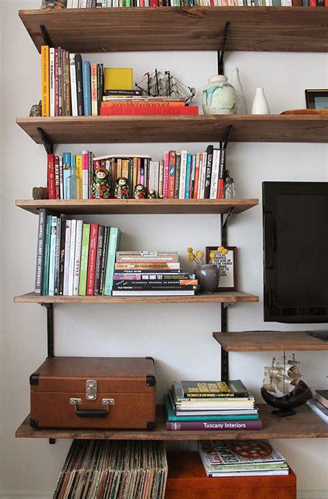 diy mounted shelving unit     shelf home