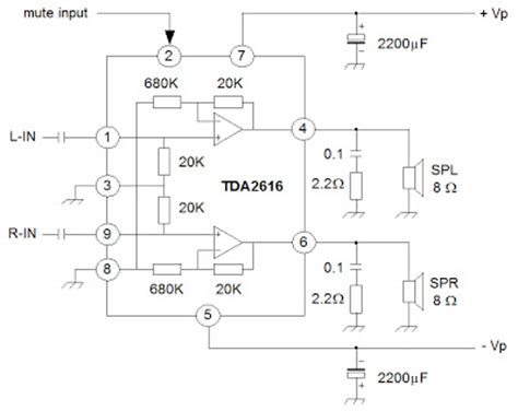 Audio Amplifier With Tda