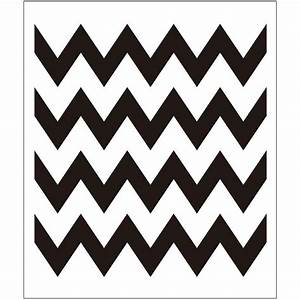 Folkart chevron painting stencils 4382 the home depot for Chevron template for painting