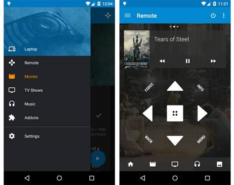 kodi app for android kore a kodi remote app for android official and open