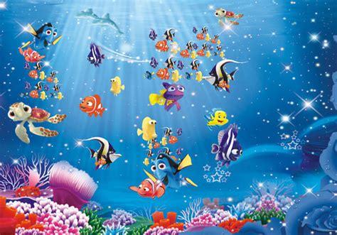 underwater cartoon nemo sea full wall mural photo