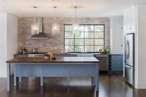 Kitchen With Brick Backsplash Brick Kitchen Backsplash Contemporary Kitchen Pinney Designs