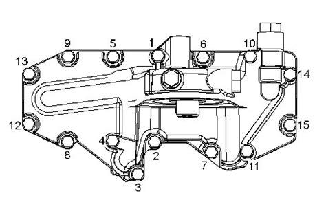 Truck Engines Engine Oil Filter Base