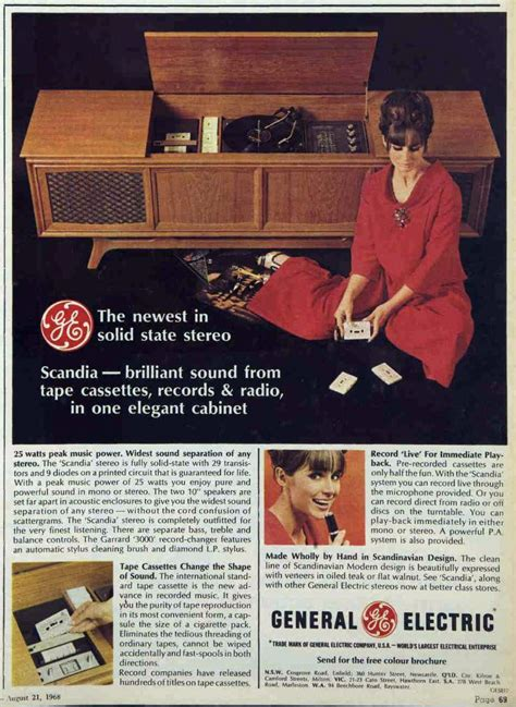 fi heaven stereo record player advertising