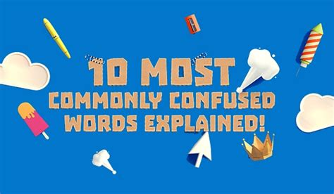 commonly confused words infographic