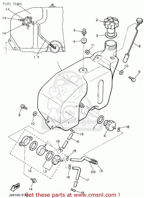 Golf Cart Fuel Diagram by Yamaha G9 Ak Golf Car 1994 Fuel Tank Schematic Partsfiche