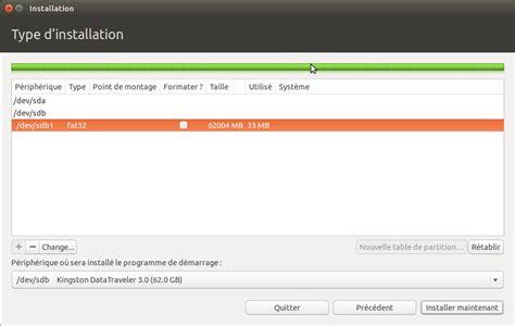 ubuntu l setup installer ubuntu sur une cl 233 usb ou comment avoir un