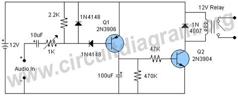 Audio Activated Delay Switch Circuit Diagram