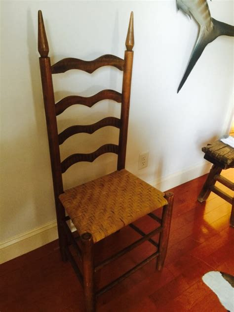 antique ladder back chair shaker with woven seat