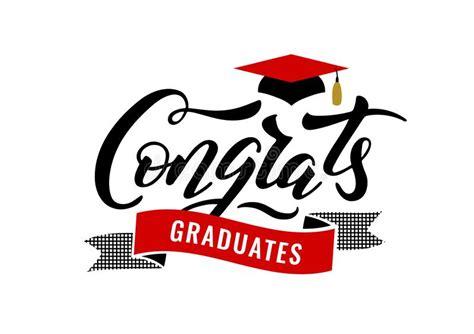 congrats graduates class   graduation congratulation party stock vector illustration