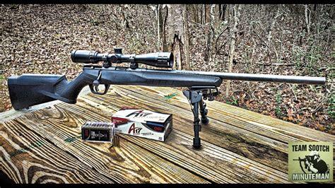New Savage B17 Fv 17 Hmr Rifle  Youtube