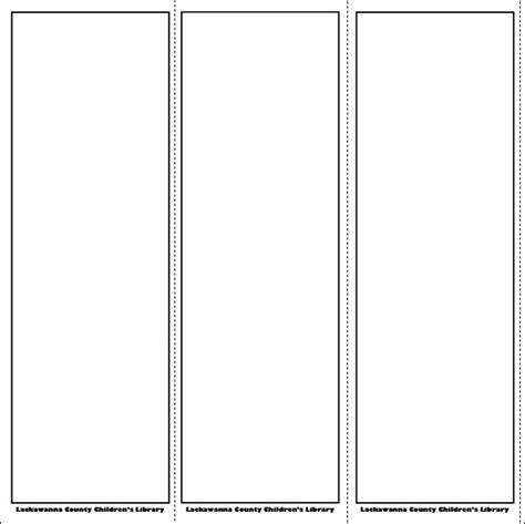 bookmark template     psd word