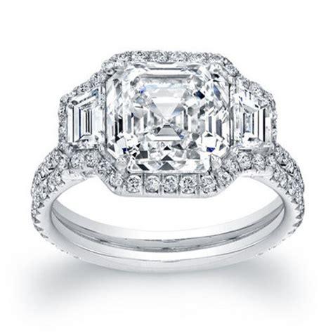 gorgeous asscher cut engagement rings everafterguide