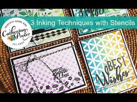 ink  stencil techniques  card making youtube
