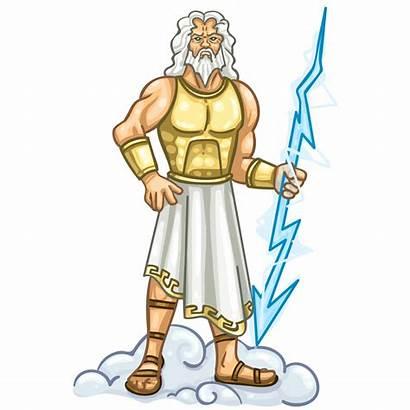 Zeus God Cartoon Clipart Poseidon Greek Transparent