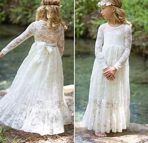 Robe Boheme Fille : robe longue dentelle petite fille boho boheme chic ~ Melissatoandfro.com Idées de Décoration