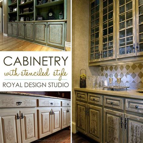 Stencil Project Ideas For Stenciling Kitchen Cabinets And