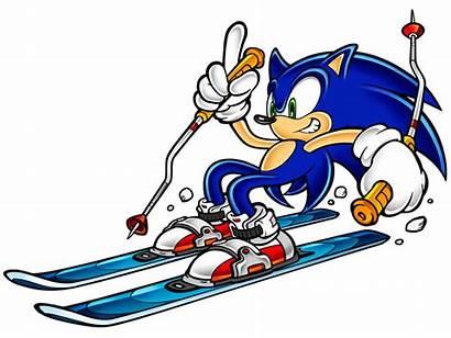 Sonic Adventure Skiing Concept Promo Clipart Hedgehog