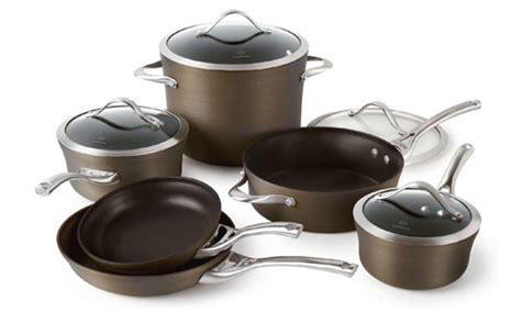 Calphalon Contemporary Bronze Nonstick Cookware Set, 10